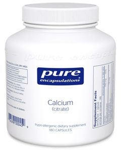Calcium (Citrate) 180 Capsules Pure Encapsulations