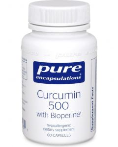 Curcumin 500 with Bioperine 60 Capsules Pure Encapsulations
