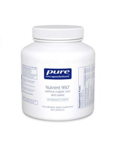 Nutrient 950 without Copper, Iron & Iodine 180 Capsules Pure Encapsulations