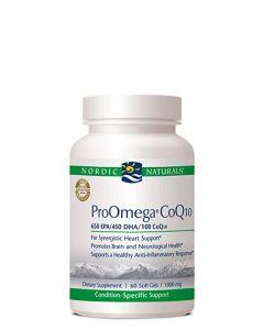Nordic Naturals ProOmega CoQ10 60 soft gels 1000 mg each