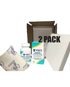 2 PACK - VSL#3 Probiotics 60 caps 112.5 Billion Strains packaged