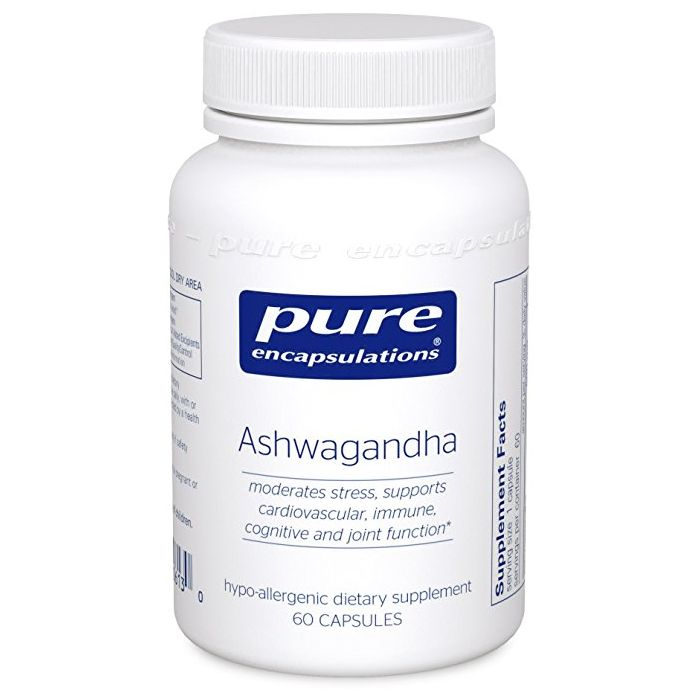 Ashwagandha 60 pure encapsulations