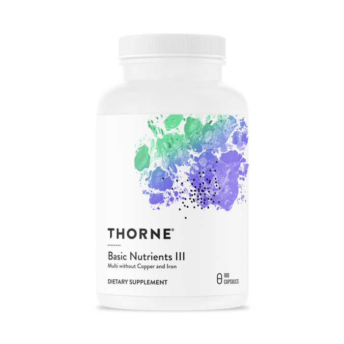Basic Nutrients III 180 Capsules Thorne Research