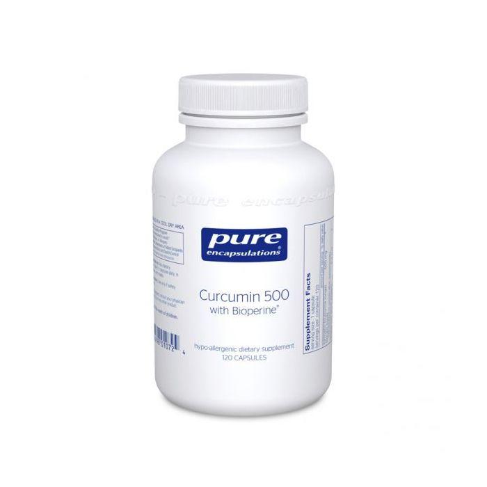 Curcumin 500 with Bioperine 120 Capsules Pure Encapsulations