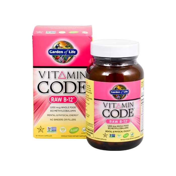 Garden of Life B-12 Raw Vitamin Code 30 veggie caps