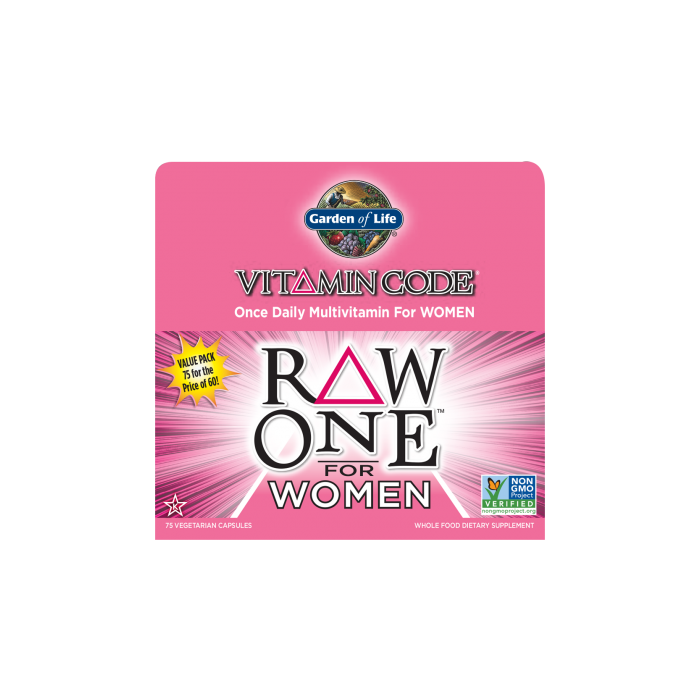 Garden of Life Multivitamin Raw One for Women 75 caps