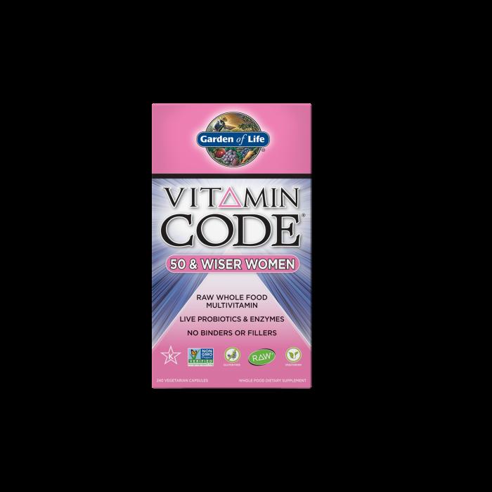 Garden of Life Multivitamin Women's 50 & Wiser Vitamin Code 240 caps