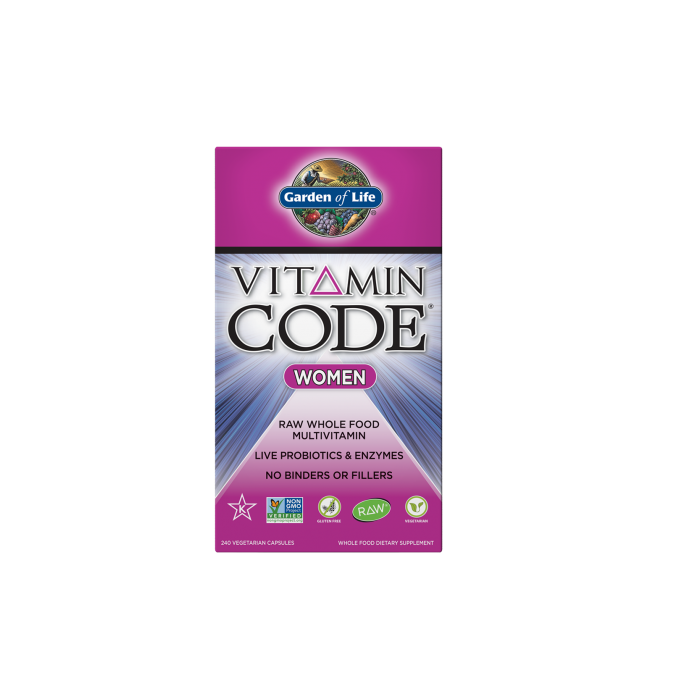 Garden of Life Multivitamin Women's Vitamin Code 240 veggie caps