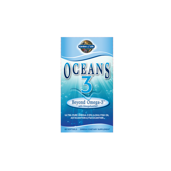 Oceans 3 Beyond Omega-3 with OmegaXanthin Garden of Life