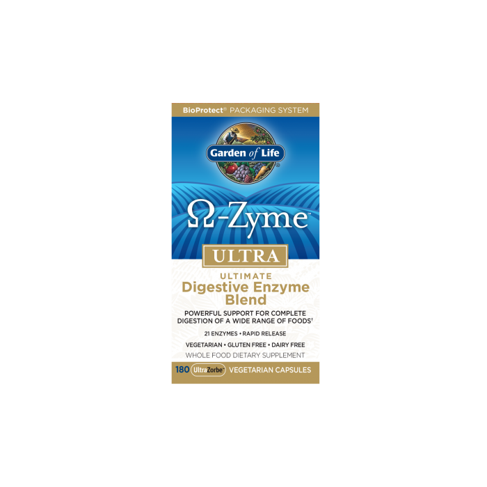 Garden of Life OmegaZyme Ultra Digestive Enzymes 180 veggie caps