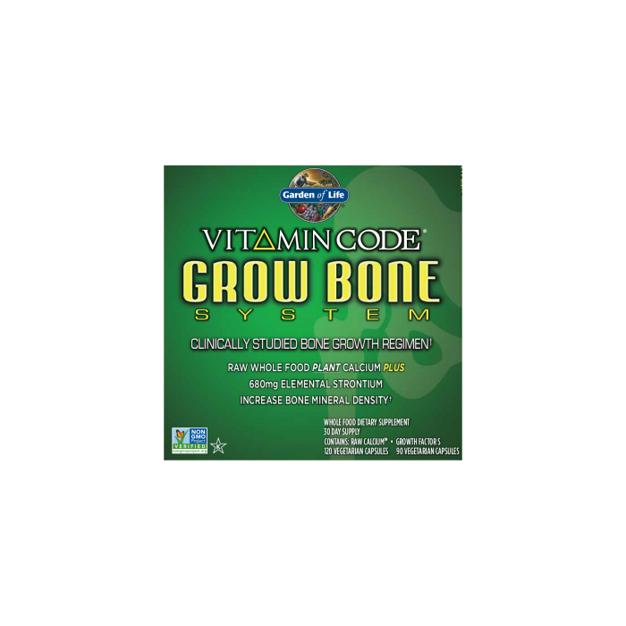 Garden of Life Grow Bone System Vitamin Code 30 Day Supply