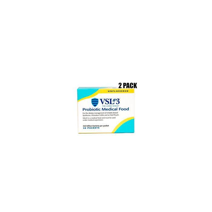 2 PACK VSL#3 Probiotics Unflavored 30 packets 450 billion