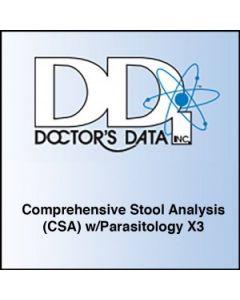 Doctors Data Comprehensive Stool Analysis (CSA) w/Parasitology x3