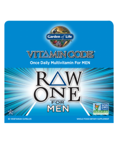 Garden of Life Multivitamin Raw One for Men 75 caps 1 per day
