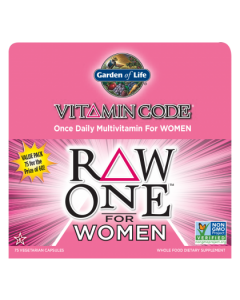 Garden of Life Multivitamin Raw One for Women 75 caps 1 per day