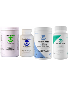 Perfect Pass 4 Pack Pre & Probiotic, Enzyme & Immune Multi Pwdr