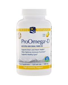 Nordic Naturals ProOmega & D3 120 soft gels 1000 mg each